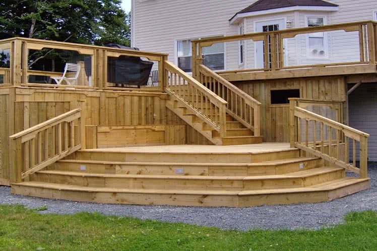 Photo showcasing a deck construction in Dobbs Ferry, New York with a link to read more.