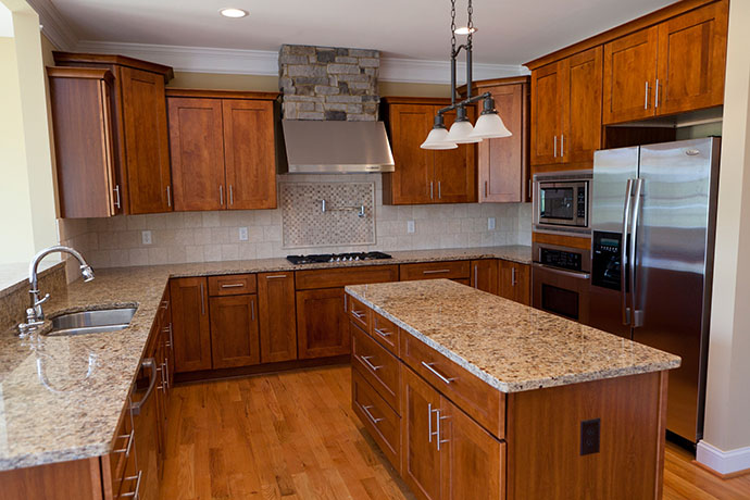 Photo showcasing a kitchen remodel in New Rochelle, New York.